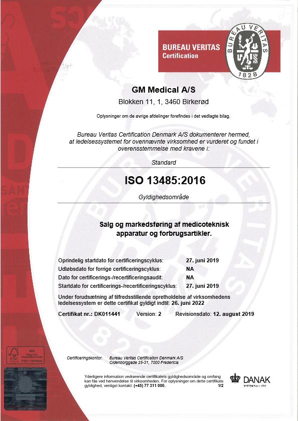 GM Medical ISO-certifikat